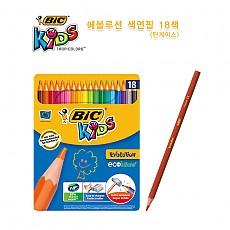 [BIC] 빅 에볼루션 메탈 색연필 18색