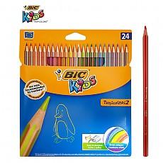 [BIC] 빅 트로피컬러 색연필 24색 (스트라이프)