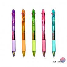 2색 형광+볼펜 투명 (3in1)